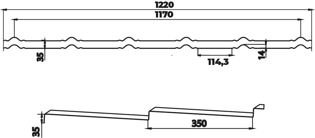 Технічна інформація Металочерепиця модульна Сапфір Польща