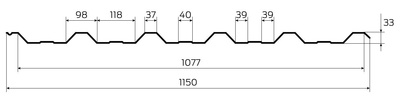 Технічна інформація профнастил під дерево Т35 Printech