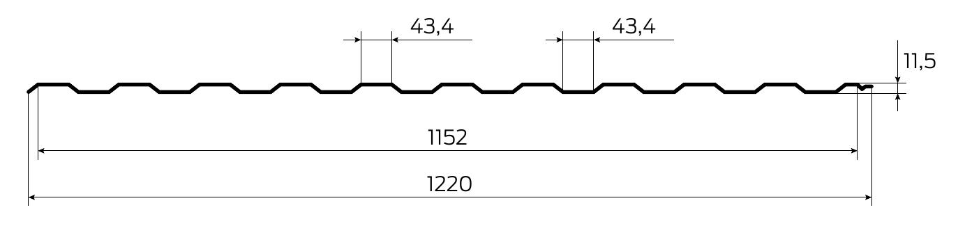 Технічна інформація Профнастил кольоровий T12