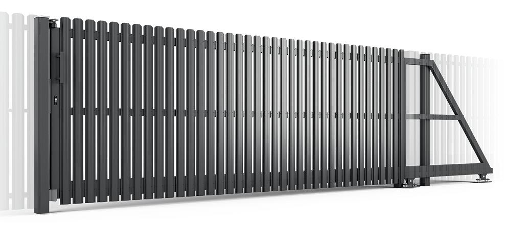 металевий штахетник ворота