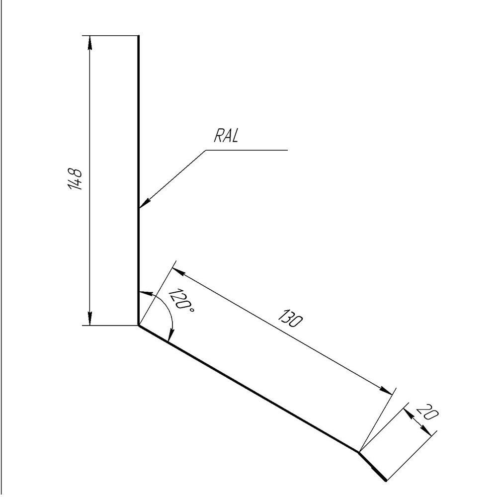 Планка примикання верхня